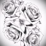 тату эскизы розы на боку - смотреть прикольную картинку 2