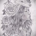 тату эскизы розы на боку - смотреть прикольную картинку 3