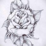 тату эскизы розы на боку - смотреть прикольную картинку 4
