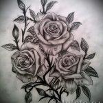 тату эскизы розы на ногу - смотреть прикольную картинку 3