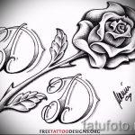 тату эскизы розы на ногу - смотреть прикольную картинку 4