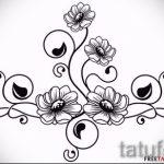 тату эскизы цветы черные - рисунки от 26-04-2016 10
