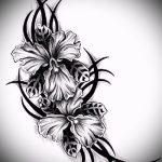 тату эскизы цветы черные - рисунки от 26-04-2016 3