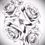 тату эскизы цветы черные - рисунки от 26-04-2016 4