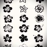 тату эскизы цветы черные - рисунки от 26-04-2016 6