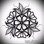 тату эскизы цветы черные - рисунки от 26-04-2016 8