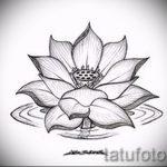 цветок лотоса тату эскизы - рисунки от 26-04-2016 1