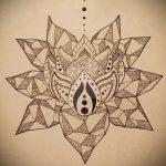 цветок лотоса тату эскизы - рисунки от 26-04-2016 10