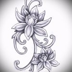 цветок лотоса тату эскизы - рисунки от 26-04-2016 2