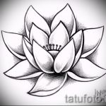 цветок лотоса тату эскизы - рисунки от 26-04-2016 3