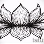 цветок лотоса тату эскизы - рисунки от 26-04-2016 4