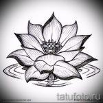 цветок лотоса тату эскизы - рисунки от 26-04-2016 5