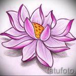 цветок лотоса тату эскизы - рисунки от 26-04-2016 6