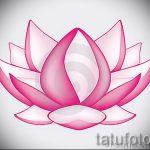 цветок лотоса тату эскизы - рисунки от 26-04-2016 8