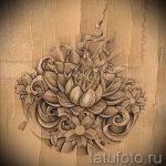 цветок лотоса тату эскизы - рисунки от 26-04-2016 9