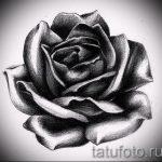 черная роза тату эскиз - смотреть прикольную картинку 1
