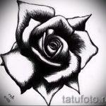 черная роза тату эскиз - смотреть прикольную картинку 11