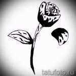 черная роза тату эскиз - смотреть прикольную картинку 12