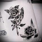 черная роза тату эскиз - смотреть прикольную картинку 14