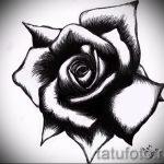 черная роза тату эскиз - смотреть прикольную картинку 15
