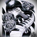 черная роза тату эскиз - смотреть прикольную картинку 16