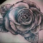 черная роза тату эскиз - смотреть прикольную картинку 2