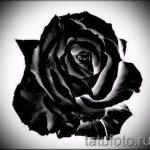 черная роза тату эскиз - смотреть прикольную картинку 5