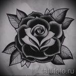 черная роза тату эскиз - смотреть прикольную картинку 8
