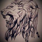 эскизы льва для тату - рисунки для татуировки от 29042916 1