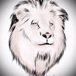 эскизы тату лев на предплечье - рисунки для татуировки от 29042916 3