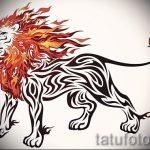 эскизы тату лев на предплечье - рисунки для татуировки от 29042916 4