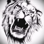 эскизы тату лев реализм - рисунки для татуировки от 29042916 4