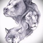 эскизы тату лев реализм - рисунки для татуировки от 29042916 9