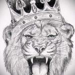 эскизы тату лев с короной - рисунки для татуировки от 29042916 1