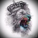эскизы тату лев с короной - рисунки для татуировки от 29042916 3