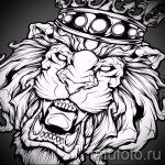 эскизы тату лев с короной - рисунки для татуировки от 29042916 5