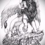 эскизы тату лев с крыльями - рисунки для татуировки от 29042916 1