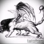 эскизы тату лев с крыльями - рисунки для татуировки от 29042916 10