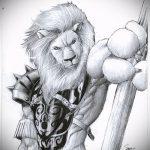 эскизы тату лев с крыльями - рисунки для татуировки от 29042916 2