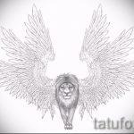 эскизы тату лев с крыльями - рисунки для татуировки от 29042916 3