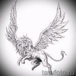 эскизы тату лев с крыльями - рисунки для татуировки от 29042916 4