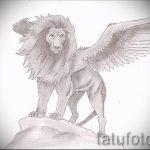 эскизы тату лев с крыльями - рисунки для татуировки от 29042916 5