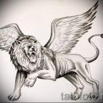 эскизы тату лев с крыльями - рисунки для татуировки от 29042916 6