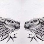 эскизы тату лев с крыльями - рисунки для татуировки от 29042916 7