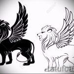 эскизы тату лев с крыльями - рисунки для татуировки от 29042916 8