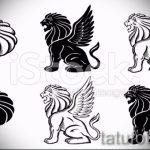 эскизы тату лев с крыльями - рисунки для татуировки от 29042916 9