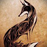 эскизы тату лиса черные - смотреть картинки от 25-04-2016 3