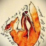 эскизы тату лисы для девушек - смотреть картинки от 25-04-2016 10