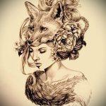 эскизы тату лисы для девушек - смотреть картинки от 25-04-2016 9