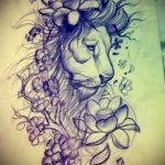 эскизы тату льва для девушки - рисунки для татуировки от 29042916 1